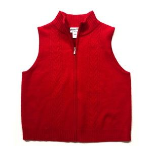 VTG Pendleton Red Lambswool Zip Vest